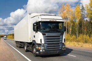 highway Scandinavia, fall, trucks